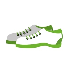 pair of sneakers icon vector image