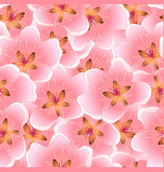 peach blossom seamless texture background vector image