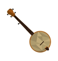 Polygon texture banjo icon vector