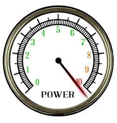 power meter vector image