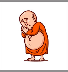 Praying buddha folded hands and bows vector