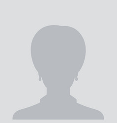 profile placeholder default female avatar vector image