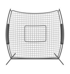 Protective fencingbaseball single icon in vector