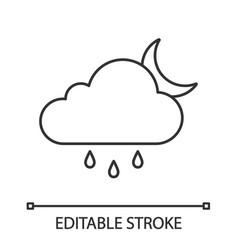 rain night linear icon vector image