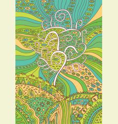 Rainbow tree of life surreal fantasy psychedelic vector