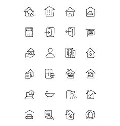 Real Estate Hand Drawn Doodle Icons 1 vector image