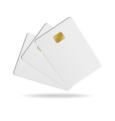 realistic detailed 3d blank plastic credit card vector image