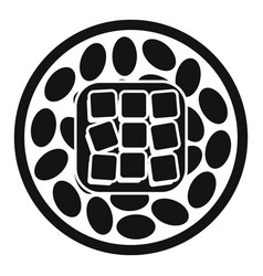 Rice sushi icon simple style vector
