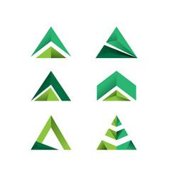 Set triangle logo vector