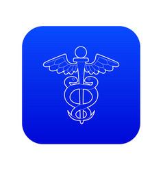 sign medicine icon blue vector image