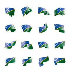solomon islands flag on a vector image