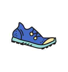 Spike running shoe vector
