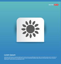 sunicon - blue sticker button vector image