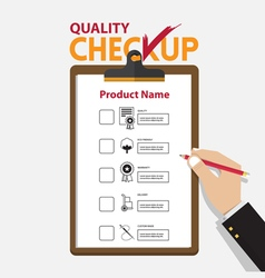 The concept of infographic for product quality on vector