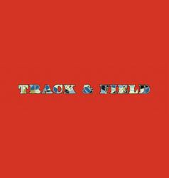 Track field concept word art vector