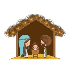 Traditional manger scene vector