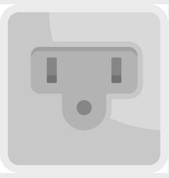 Type b power socket icon flat isolated vector
