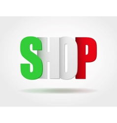 Typography Internet Logo italian shop vector