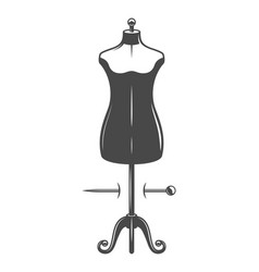 Vintage female body mannequin concept vector