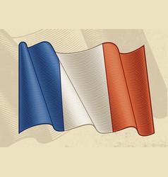 Vintage flag france vector