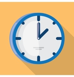 Wall Clock icon flat design vector