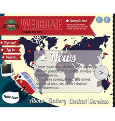 Website template elements vintage style vector