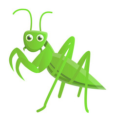Wild mantis icon cartoon style vector