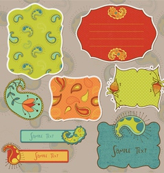 design elements for scrapbook with paisley vector image vector image
