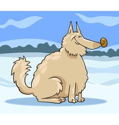 eskimo dog cartoon vector image vector image