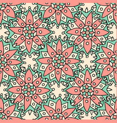 Ethnic flowers seamless pattern can be used for vector