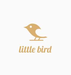 little bird logo vector image vector image