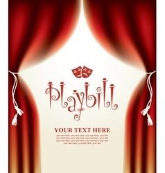 Playbill with scenic scenes vector