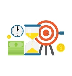 Business work planning and timing vector image