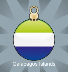 Galapagos islands flag on bulb vector image vector image
