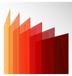 Perspective colorful abstract rectangles on white vector image