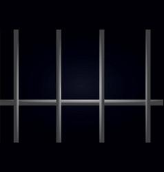 prison bars dark cell vector image vector image