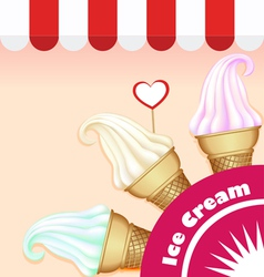 set of ice cream vector image vector image