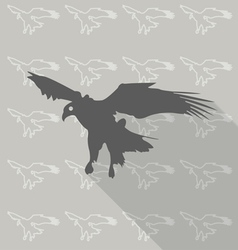 Eagles fly on the background pattern vector image vector image