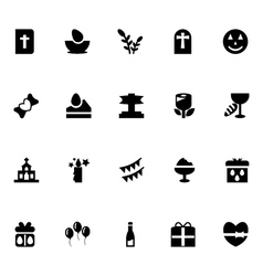 Easter Icons 5 vector image