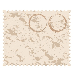 old blank grunge post stamp vector image vector image