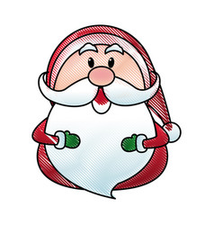 santa claus cartoon character merry christmas vector image