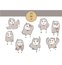 cute with hand drawn set of vector image vector image