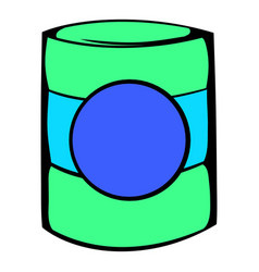 green plastic jar icon icon cartoon vector image