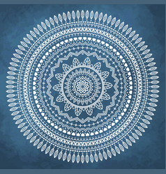mandala on grunge watercolor background vector image