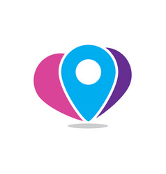 pin location travel logo vector image
