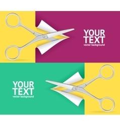 Scissor Banner Set vector image vector image