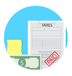 tax paid icon vector image vector image