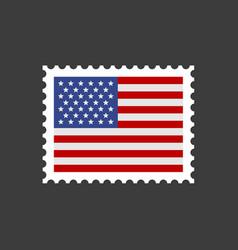usa flag postage stamp vector image vector image