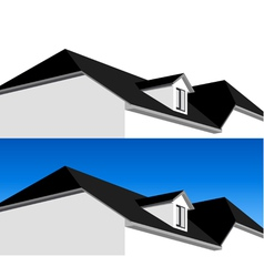3D house vector image