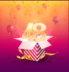 48th years anniversary design element vector image